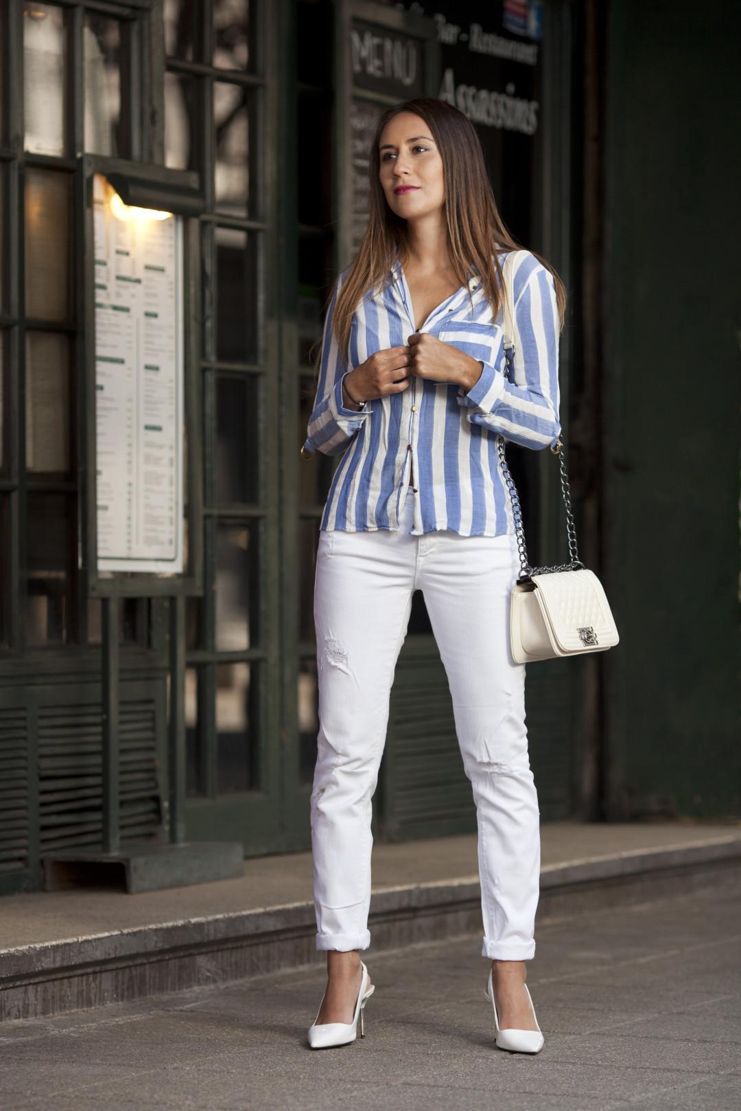 white stripes